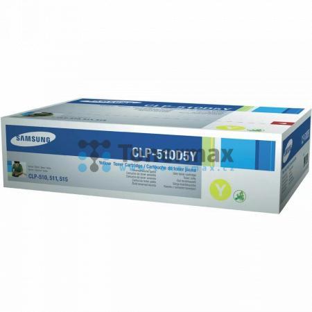 Samsung CLP-510D5Y, poškozený obal, originální toner pro tiskárny Samsung CLP-510, CLP-510N