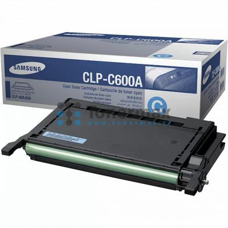 Samsung CLP-C600A, poškozený obal, originální toner pro tiskárny Samsung CLP-600, CLP-600N, CLP-650, CLP-650N