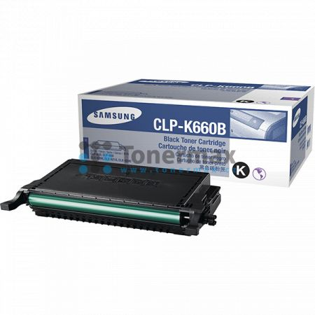 Samsung CLP-K660B, originální toner pro tiskárny Samsung CLP-610ND, CLP-660N, CLP-660ND, CLX-6200FX, CLX-6200ND, CLX-6210FX, CLX-6240, CLX-6240FX