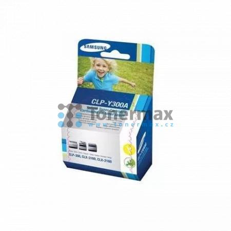 Samsung CLP-Y300A, originální toner pro tiskárny Samsung CLP-300, CLP-300N, CLX-2160, CLX-2160N, CLX-3160, CLX-3160FN, CLX-3160N