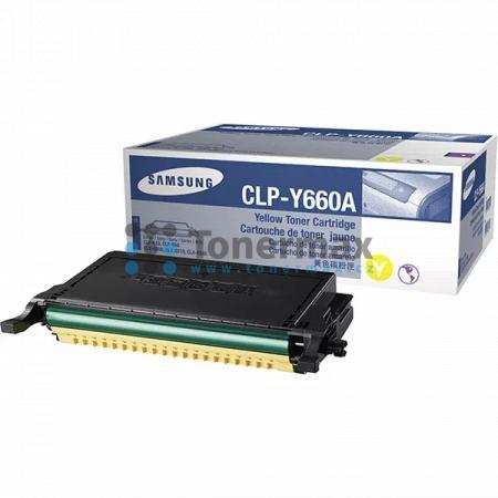 Samsung CLP-Y660A, originální toner pro tiskárny Samsung CLP-610ND, CLP-660N, CLP-660ND, CLX-6200FX, CLX-6200ND, CLX-6210FX, CLX-6240, CLX-6240FX
