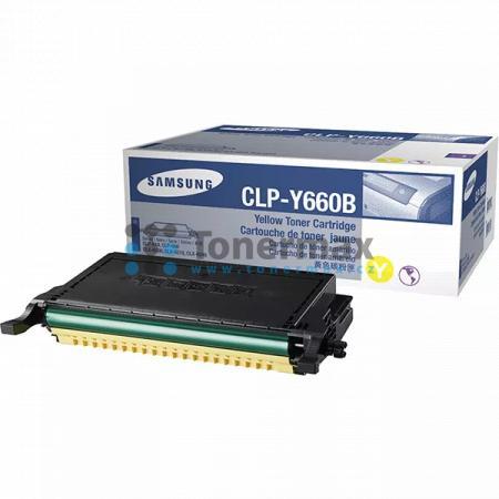 Samsung CLP-Y660B, originální toner pro tiskárny Samsung CLP-610ND, CLP-660N, CLP-660ND, CLX-6200FX, CLX-6200ND, CLX-6210FX, CLX-6240, CLX-6240FX