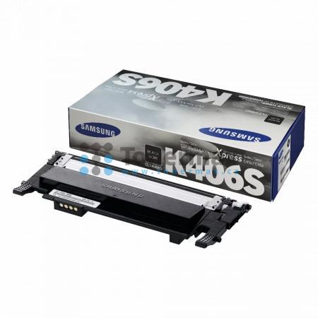 Samsung CLT-K406S, originální toner pro tiskárny Samsung CLP-360, CLP-365, CLP-365W, CLX-3300, CLX-3305, CLX-3305FN, CLX-3305FW, CLX-3305W, Xpress C410W, SL-C410W, Xpress C460FW, SL-C460FW, Xpress C460W, SL-C460W, Xpress C467W, SL-C467W