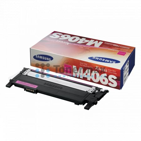 Samsung CLT-M406S, originální toner pro tiskárny Samsung CLP-360, CLP-365, CLP-365W, CLX-3300, CLX-3305, CLX-3305FN, CLX-3305FW, CLX-3305W, Xpress C410W, SL-C410W, Xpress C460FW, SL-C460FW, Xpress C460W, SL-C460W, Xpress C467W, SL-C467W