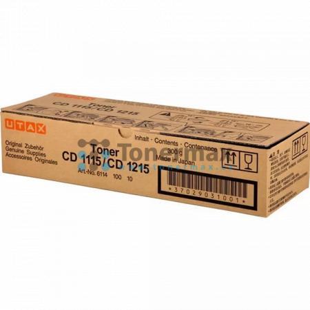 Utax 611410010, originální toner pro tiskárny Utax CD 1115, CD1115, CD 1215, CD1215, kompatibilní také s Triumph Adler DC 2115, DC2115, DC 2215, DC2215
