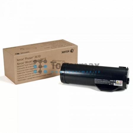 Xerox 106R02723, originální toner pro tiskárny Xerox Phaser 3610, Phaser 3610DN, Phaser 3610N, WorkCentre 3615, WorkCentre 3615DN